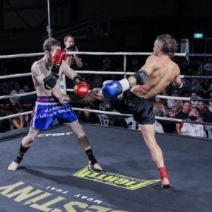 A kickboxing match.